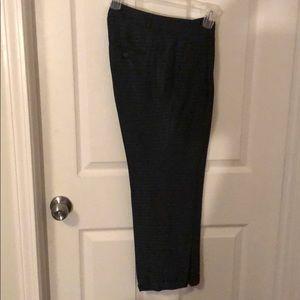 Navy print dress pants
